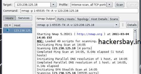 nmap attack tutorial nmap tutorial hackers bay