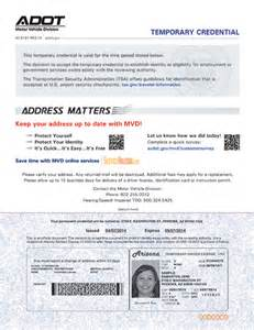Temporary Drivers License Template by Arizona S Redesigned Driver License New Process Now Effective