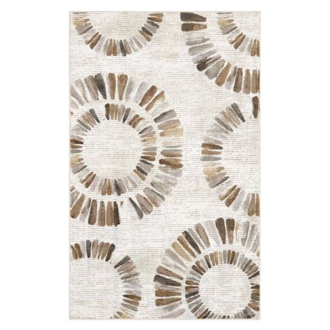 Neutral Kitchen Rugs Darren Medallion Neutral 7 Ft 6 In X 10 Ft Area Rug 561208 The Home Depot