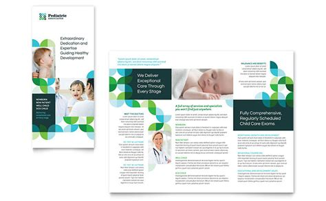 Pediatric Doctor Tri Fold Brochure Template Word Publisher Free Pediatric Brochure Templates