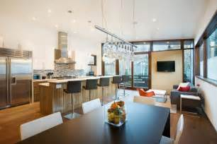 Kitchen And Dining Room Design Kitchen And Dining Room Of Small Contemporary House In