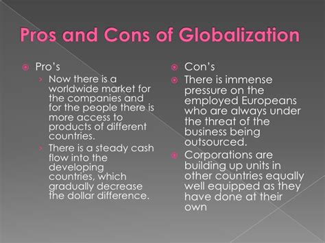 Globalization Pros And Cons Essay by Cultural Globalization Essay
