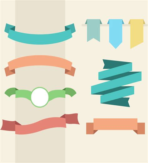 design banner free vector banner and ribbon design free vector in adobe illustrator
