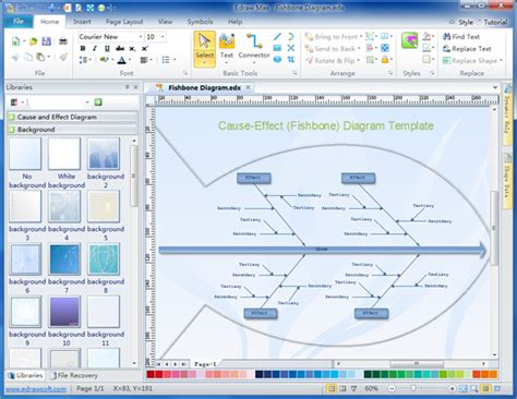 ishikawa diagram software simple ishikawa diagram maker make great looking