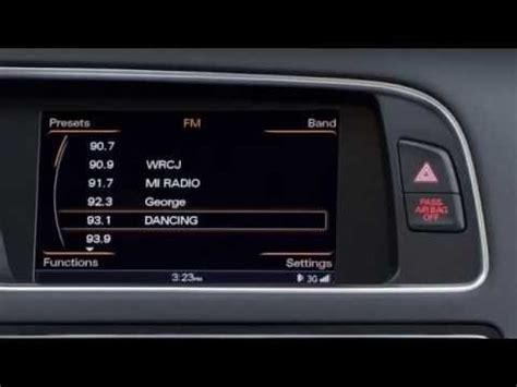 Audi A6 Mmi Radio Plus by Setting Radio Presets Audi Mmi Navigation Plus 2013 A4