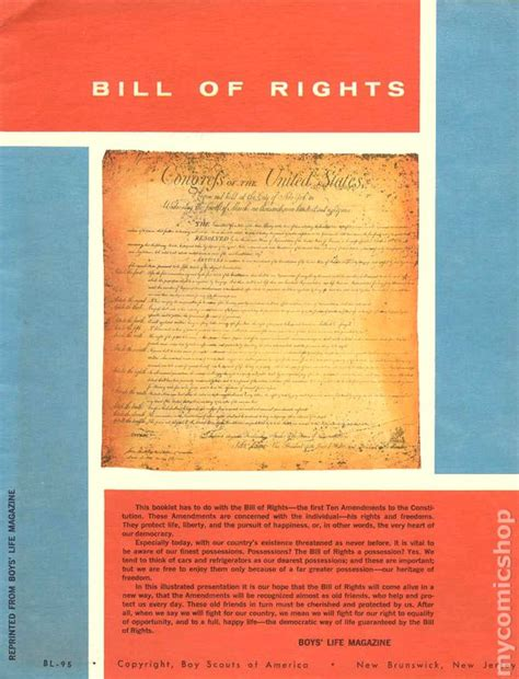 bill of rights picture book bill of rights 1955 boy scouts comic books