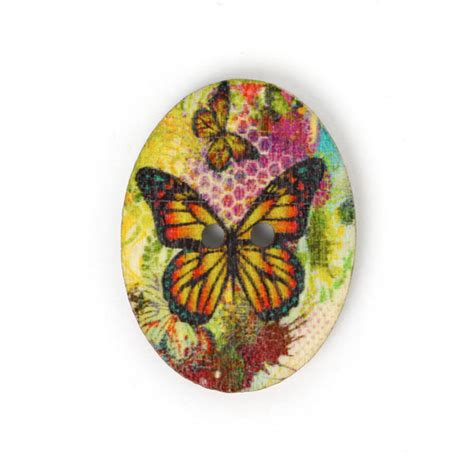 Sale Wooden Button Kancing Kayu Butterfly Motif wood button papillon colore 8 yellow buttonsfavorable buying at our shop