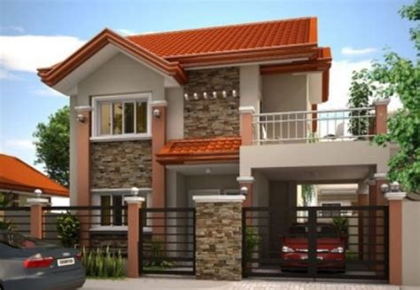 Home Interiors Design Bangalore by Front View Of The House With A Balcony And Garage