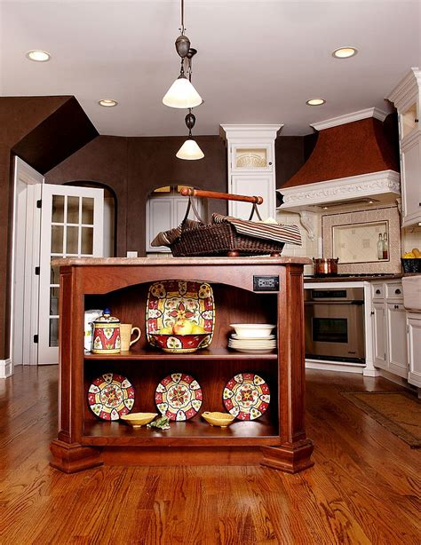 cherry wood kitchen island trendy display 50 kitchen islands with open shelving