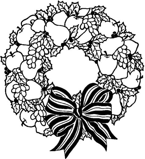 Wreath Free Coloring Pages Wreath Coloring Pages
