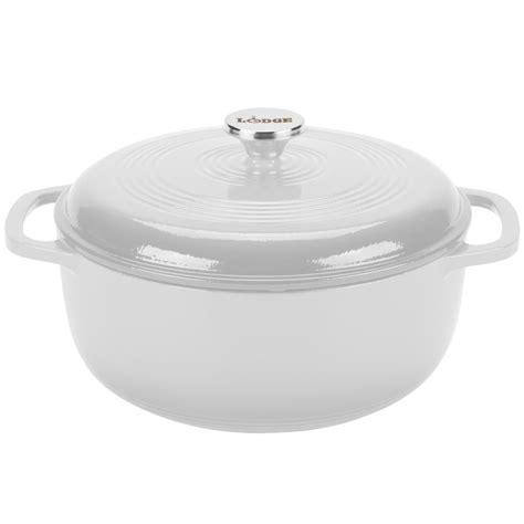 lodge color enamel 6 quart oven lodge ec6d13 6 qt oyster white color enamel oven