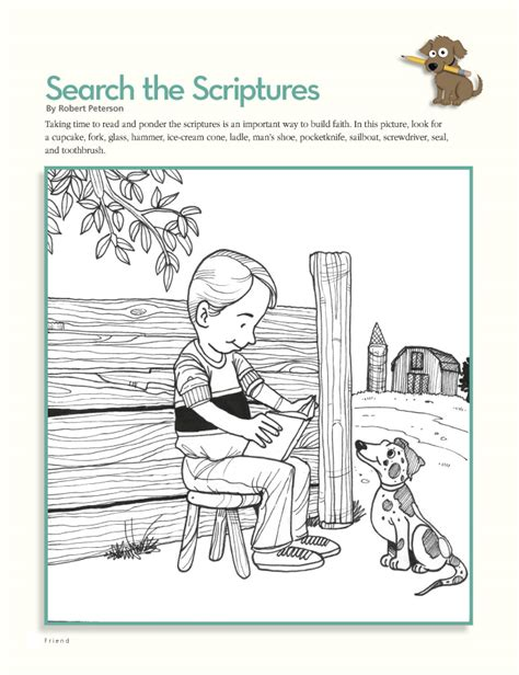 lds printable hidden pictures lds coloring pages 2018 2009