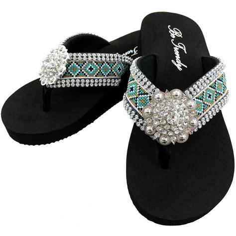 Rhinestone Flip Flops wff000015 wholesale rhinestone western flip flops