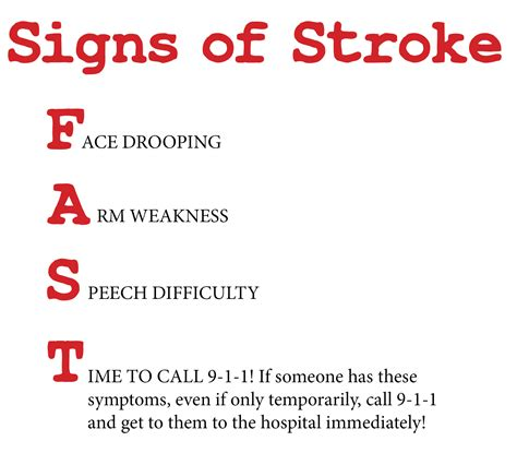 symptoms of a light stroke health connection the white wilson medical center blog