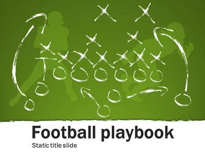 Football Playbook A Home And Lifestyle Powerpoint Powerpoint Football Playbook
