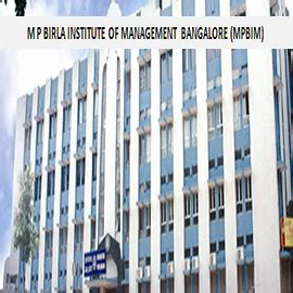 Mba For Mds by M P Birla Institute Of Management Bangalore Mpbim Mba