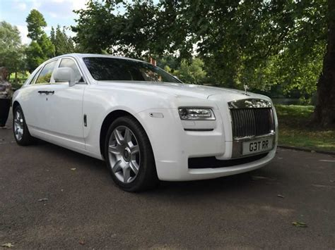 white rolls royce ghost hire herts rollers