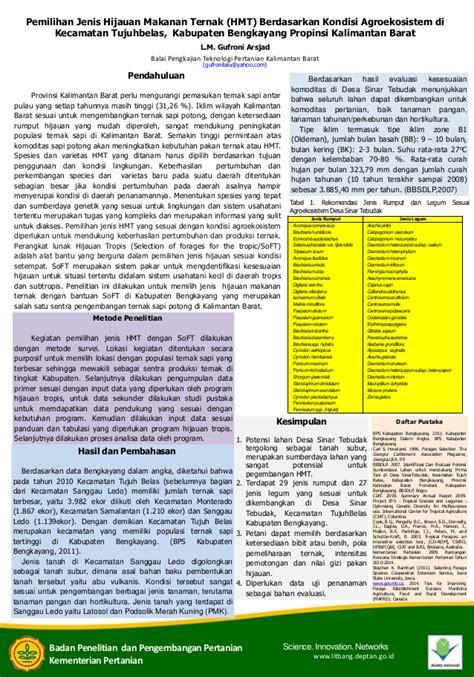jenis layout poster poster makalah pemilihan jenis hijauan makanan ternak