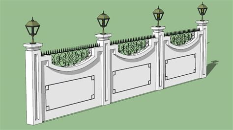 Home Design 3d How To Boundary Wall 3d Warehouse