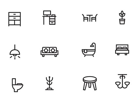 free psd home decor icons freebie