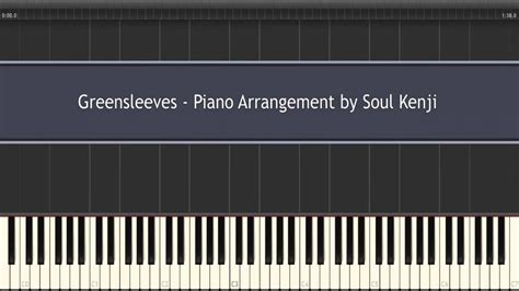 Tutorial Piano Greensleeves | piano tutorial advanced greensleeves pno arrangement