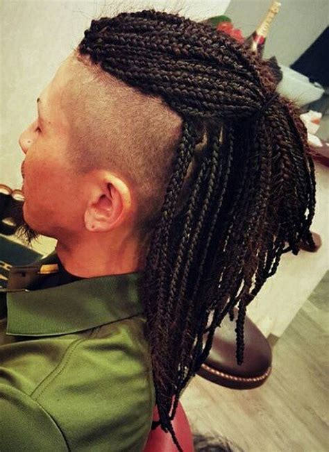 box braid for a fade head style 40 upscale mohawk hairstyles for men