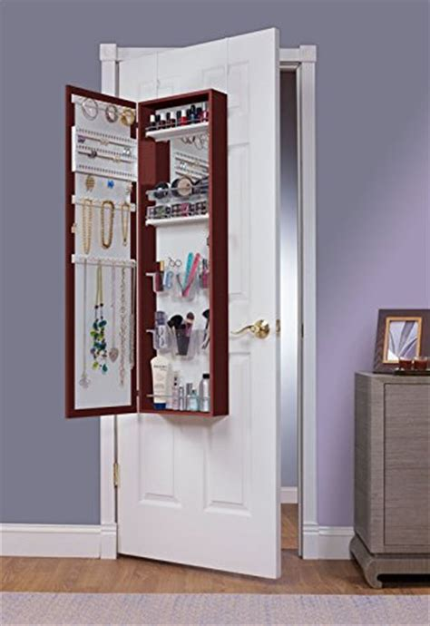 jewelry and makeup armoire awardpedia mirrotek eva48ch over the door combination jewelry and makeup armoire
