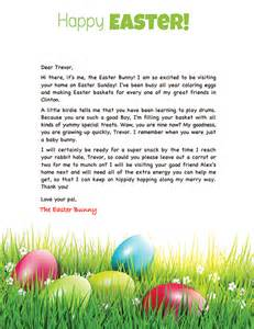Letter To The Easter Bunny Template by Easter Bunny Letter Exle Personalized Letters From