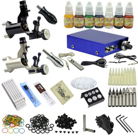 professional rotary tattoo kits 2 rotary motor guns professional machine kit