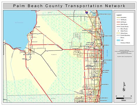 Search Palm County Palm County Road Network Color 2009