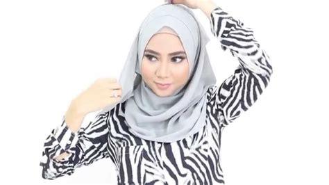 tutorial hijab nabila zirus poplook hijab tutorial 9 nabila instant shawl youtube