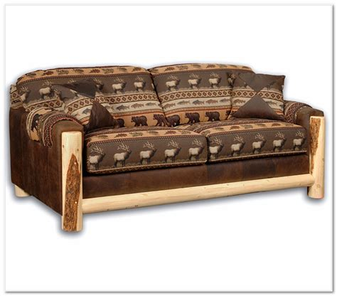 log couches rustic loveseat sleeper rustics log furniture