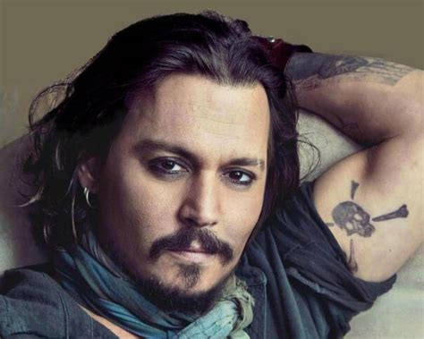 johnny depp tattoo skull and crossbones johnny depp tattoos oscars accolades and inked memories