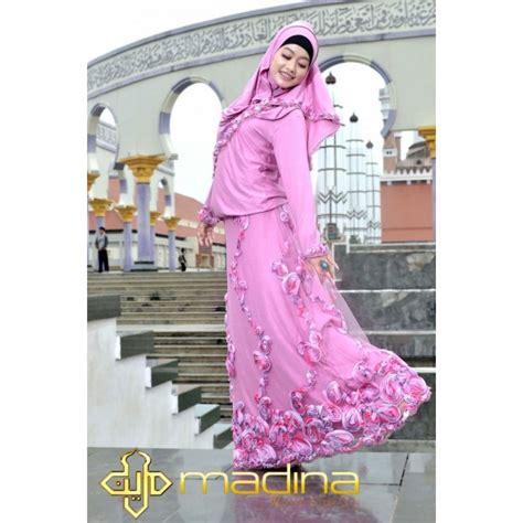 Ameera Pink madina ameera pink baju muslim gamis modern