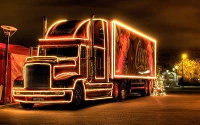 telecharger fonds decran coca cola de noel camion la nuit joyeux noel bonne annee coca cola