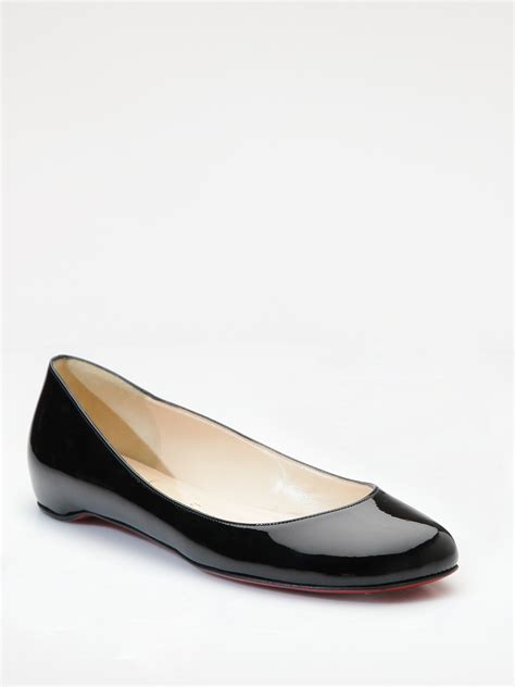 Loubutin Flats christian louboutin patent leather flats in black lyst