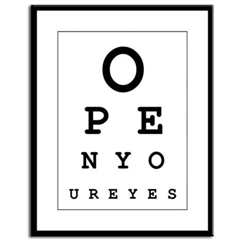 printable funny eyes open your eyes funny eye chart 8x10 quot digital print