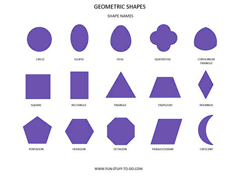 list the different shapes ofthe face used inthe shape below 3d shape names 3d puzzle image