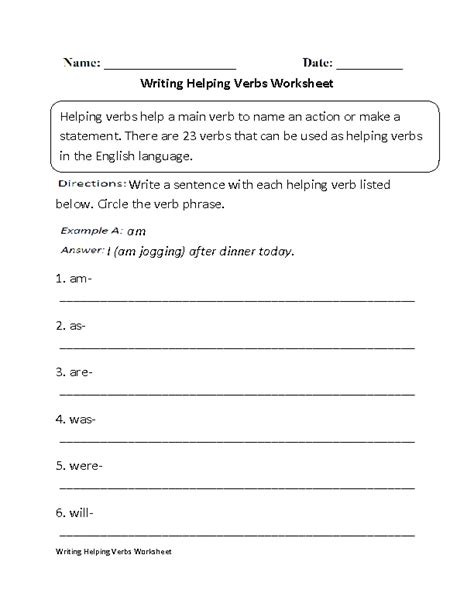 why should verbs be used in writing a resume helping verbs worksheets writing helping verbs worksheet