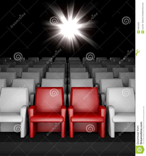 cineplex reserved seating auditorium with reserved seats stock photography