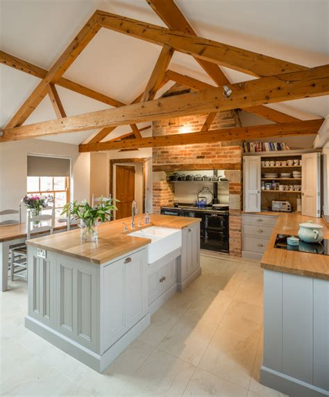 barn kitchen kitchen in barn conversion rutland leicestershire country kitchen east midlands by