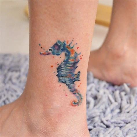small seahorse tattoo 55 cuddly seahorse designs a tiny creature with