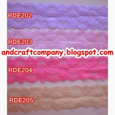 Karet Elastis Lubang Warna Putih Lebar 2 Cm jual renda and s crafts