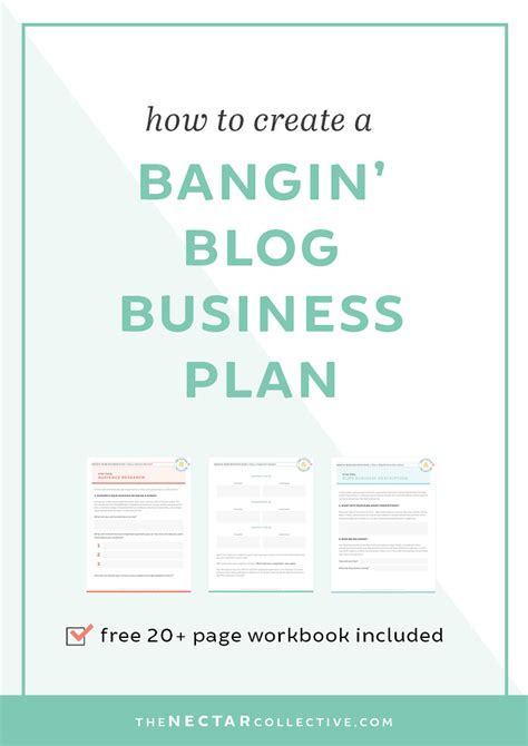 how to create a bangin blog business plan workbook