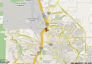 map of pikes peak colorado map of drury inn pikes peak colorado springs colorado springs