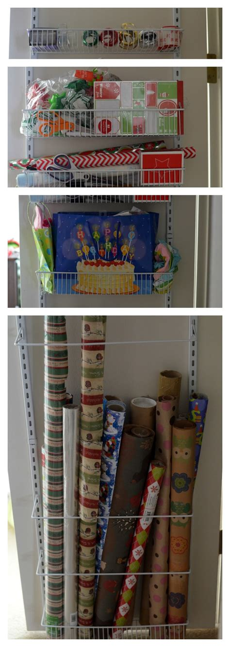 The Door Wrapping Paper Organizer by The Door Wrapping Paper Storage Solution