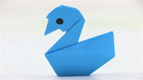 How To Make A Duck Out Of Paper - how to make a paper duck easy origami duck tutorial for