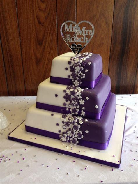 Wedding Cake Purple by Cadbury Purple Wedding Cake With Bespoke Topper