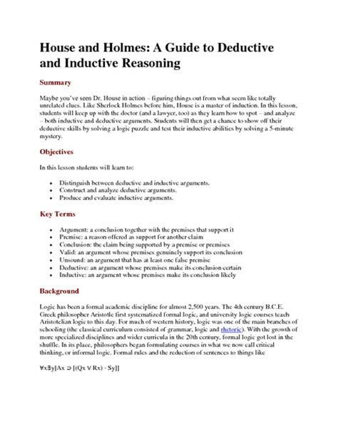 Deductive Essay by Inductive Reasoning Essay Inductive Essay Inductive Essays Analysis Inductive And Deductive