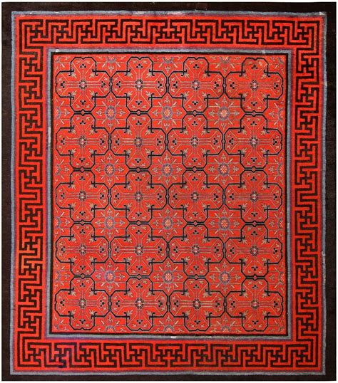 Th Sum Sum Solid early 18th century antique geometric rug at 1stdibs